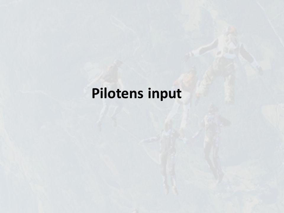 Pilotens input