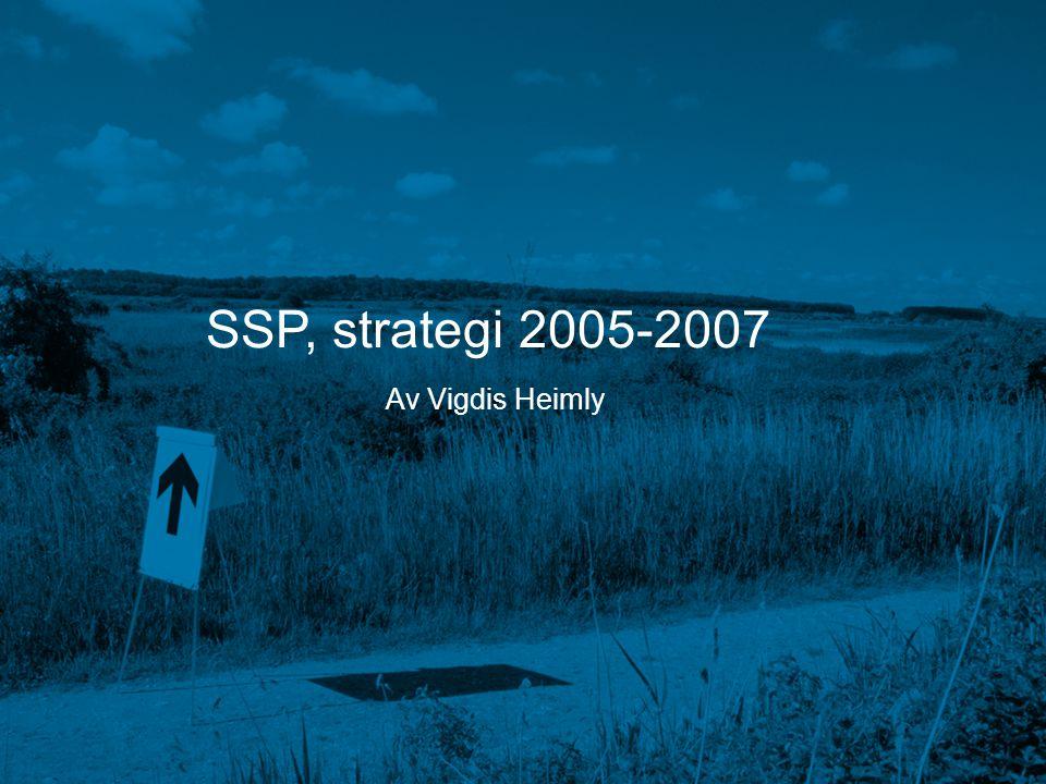 SSP, strategi 2005-2007 Av Vigdis Heimly