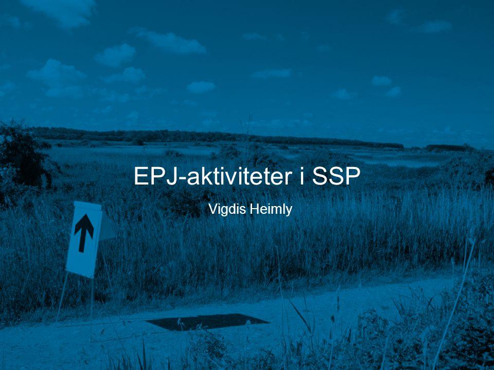 EPJ-aktiviteter i SSP Vigdis Heimly