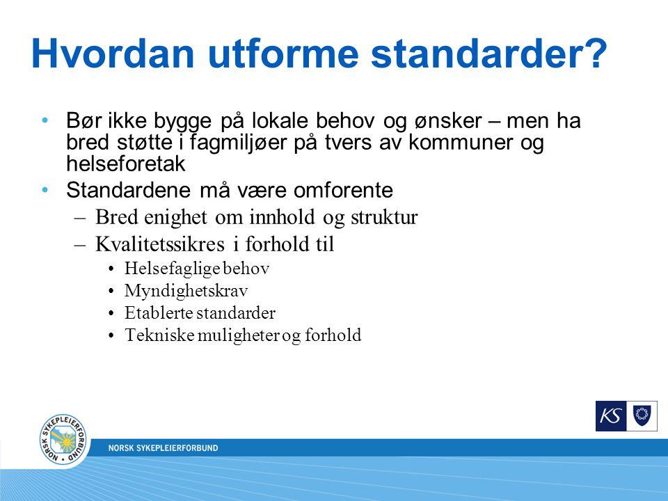 Hvordan utforme standarder.