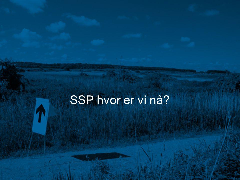 SSP hvor er vi nå