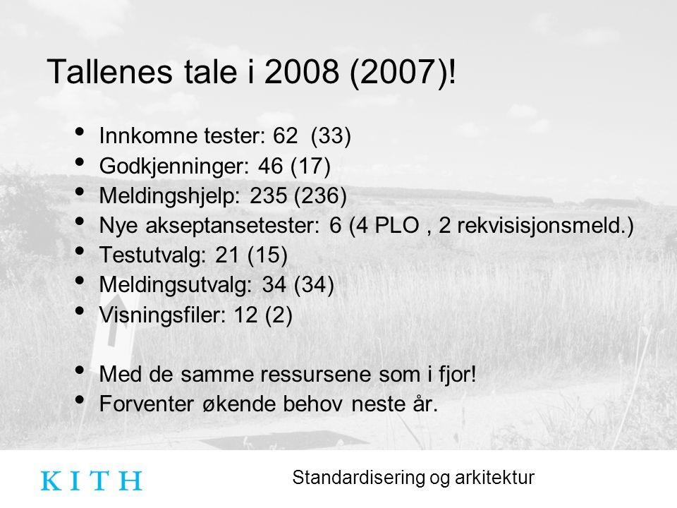 Standardisering og arkitektur Tallenes tale i 2008 (2007).