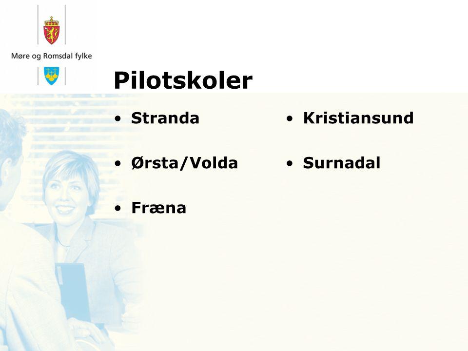 Pilotskoler Stranda Ørsta/Volda Fræna Kristiansund Surnadal