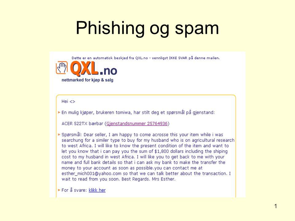 1 Phishing og spam