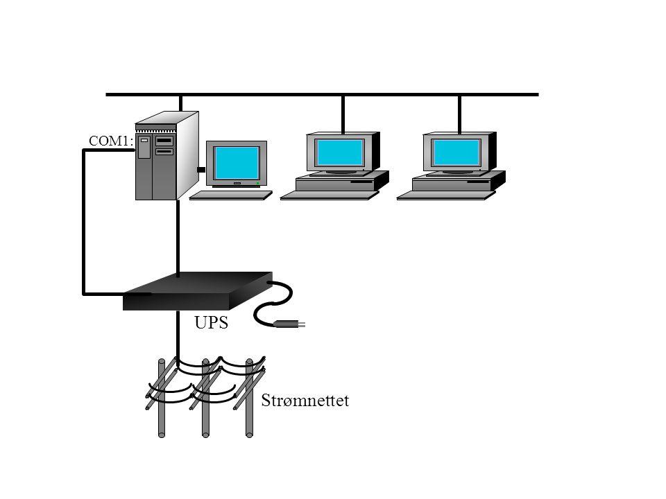 UPS COM1: Strømnettet