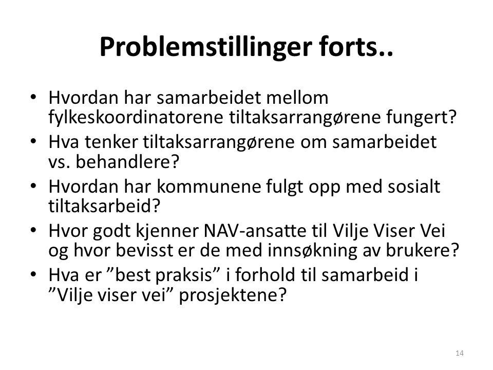 Problemstillinger forts..