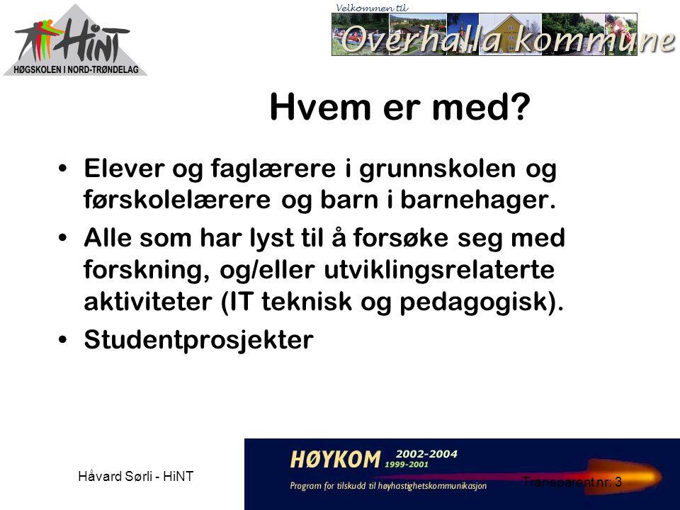 Håvard Sørli - HiNT Transparent nr: 3 Hvem er med.