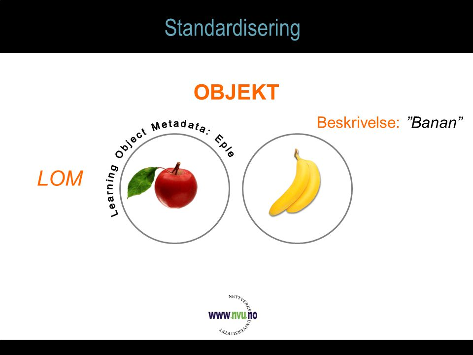 Standardisering OBJEKT Beskrivelse: Banan LOM