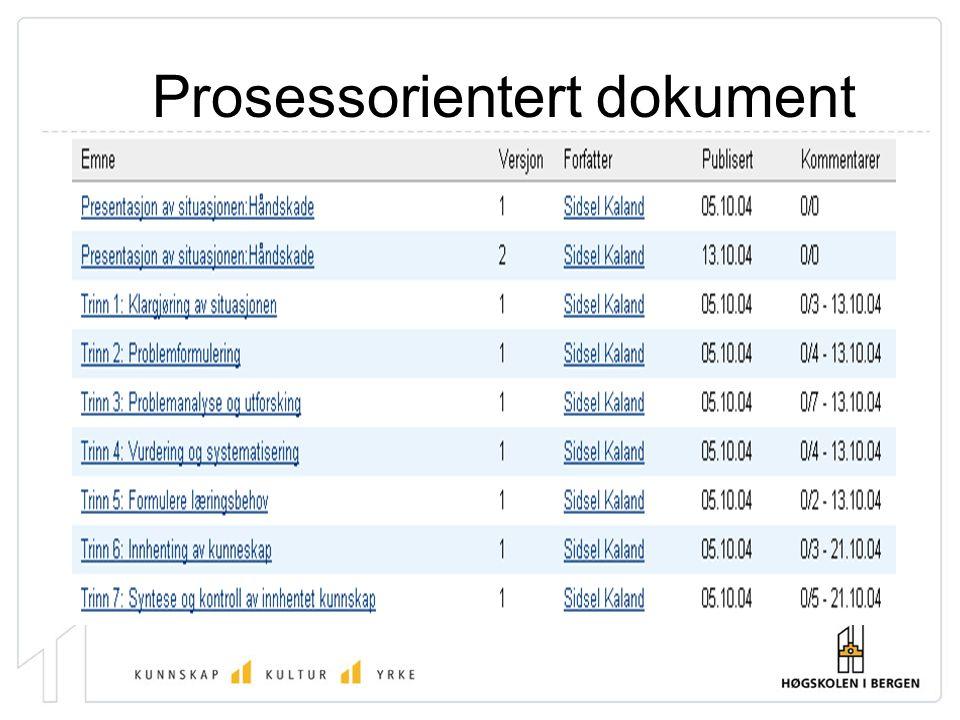 Prosessorientert dokument