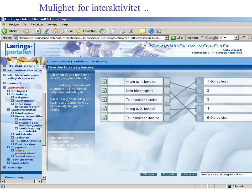 Mulighet for interaktivitet..