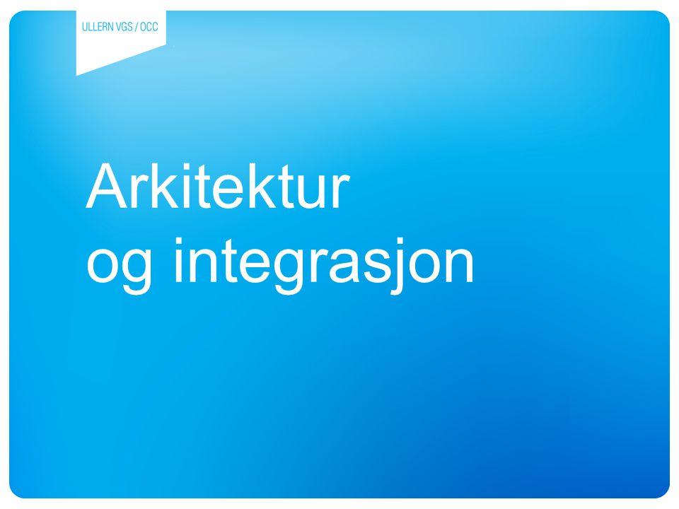Arkitektur og integrasjon