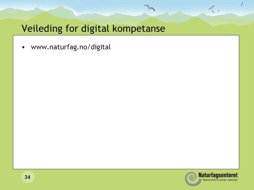 34 Veileding for digital kompetanse www.naturfag.no/digital