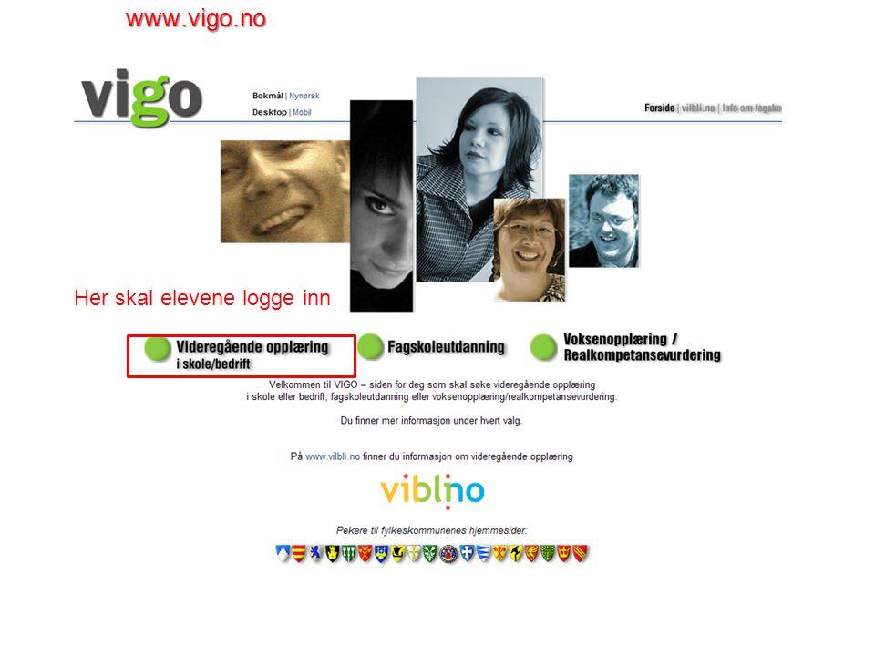 Neste skjermbilde viser den historikken inntakskontorene har registrert på søker i VIGO.
