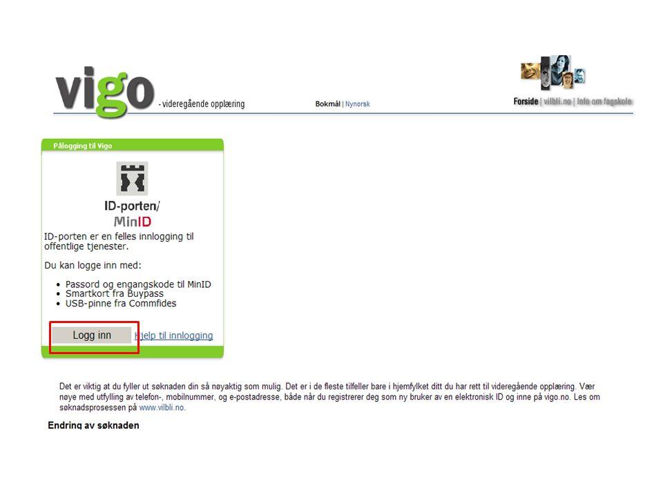 Etter at du har opprettet deg som ny bruker, må passord alltid benyttes Logg på med Fødselsnummer (11-siffer) og selvlaget Passord Ved aller første gangs innloggingSeinere innlogging 1 2