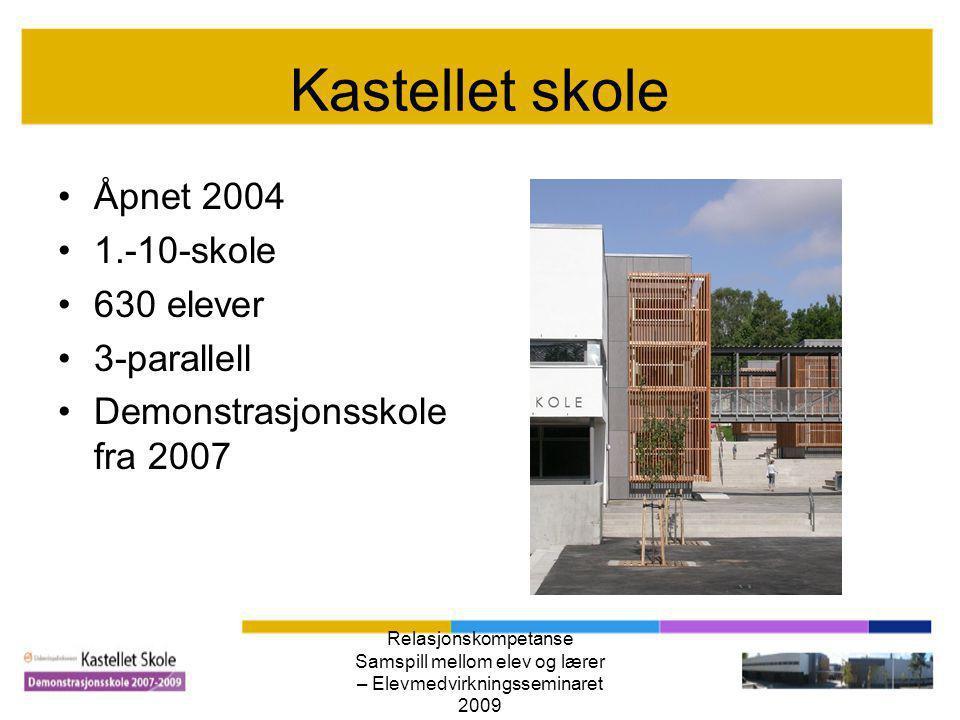 Relasjonskompetanse Samspill mellom elev og lærer – Elevmedvirkningsseminaret 2009 Hva kjennetegner oss som skole.