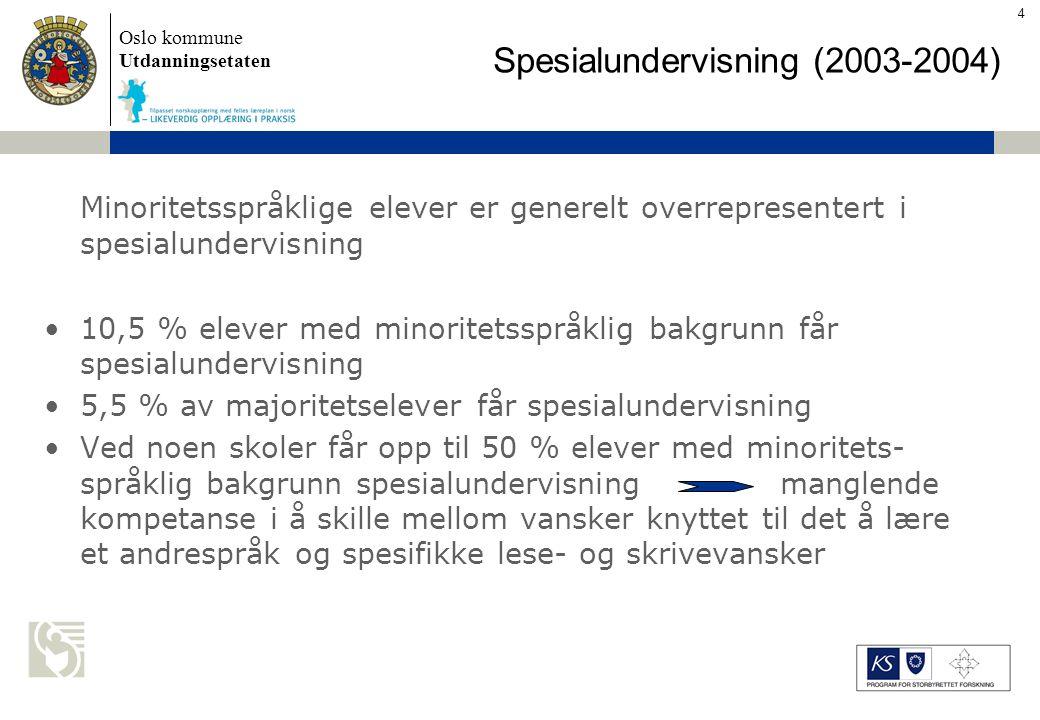 Oslo kommune Utdanningsetaten Skolens navn settes inn her Utfordringer for skolene S K O L E – > 80 % elever med min.