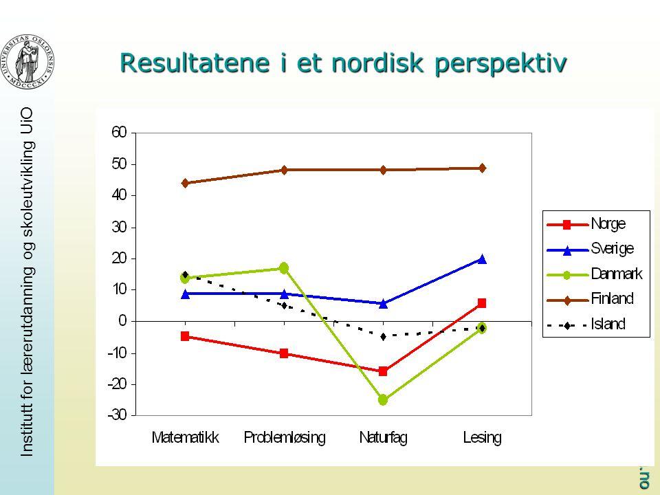 www.pisa.no Institutt for lærerutdanning og skoleutvikling UiO Resultatene i et nordisk perspektiv