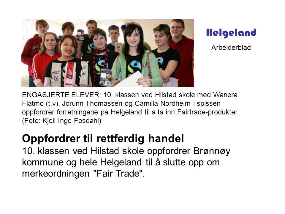 ENGASJERTE ELEVER: 10. klassen ved Hilstad skole med Wanera Flatmo (t.v), Jorunn Thomassen og Camilla Nordheim i spissen oppfordrer forretningene på H