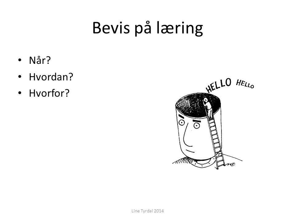 Bevis på læring Line Tyrdal 2014 Når? Hvordan? Hvorfor?