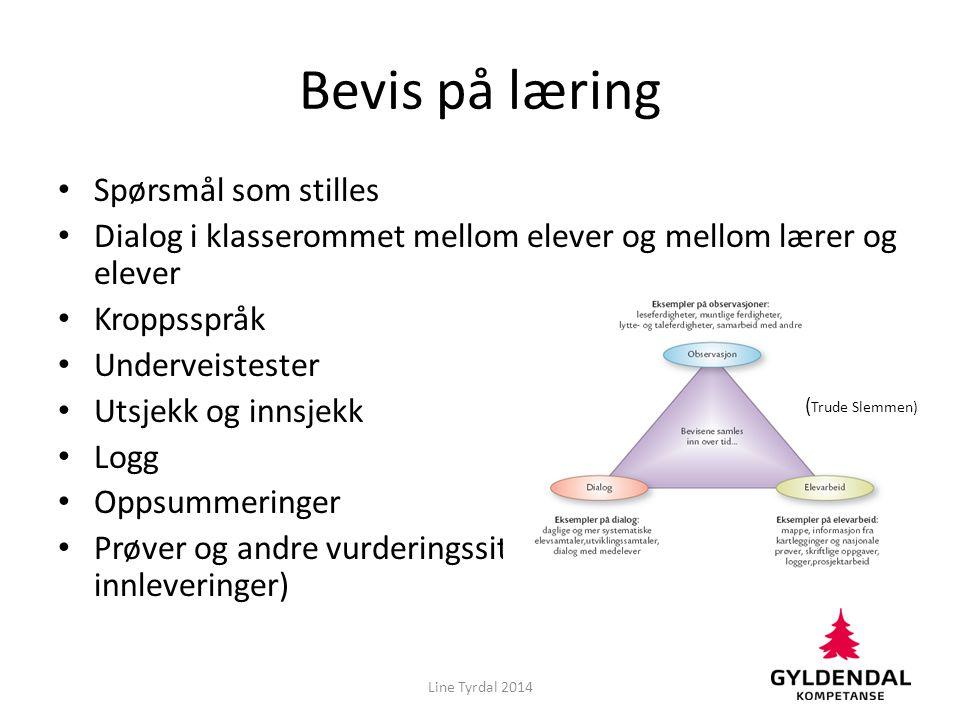 I grupper: Sorter lappene i to grupper, en med åpne og en med lukkede læringsmål. Line Tyrdal 2014