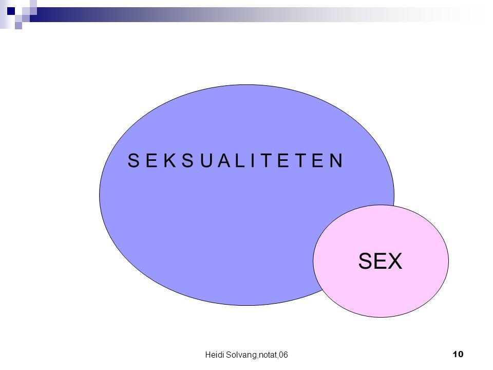 Heidi Solvang,notat,0610 SEX S E K S U A L I T E T E N