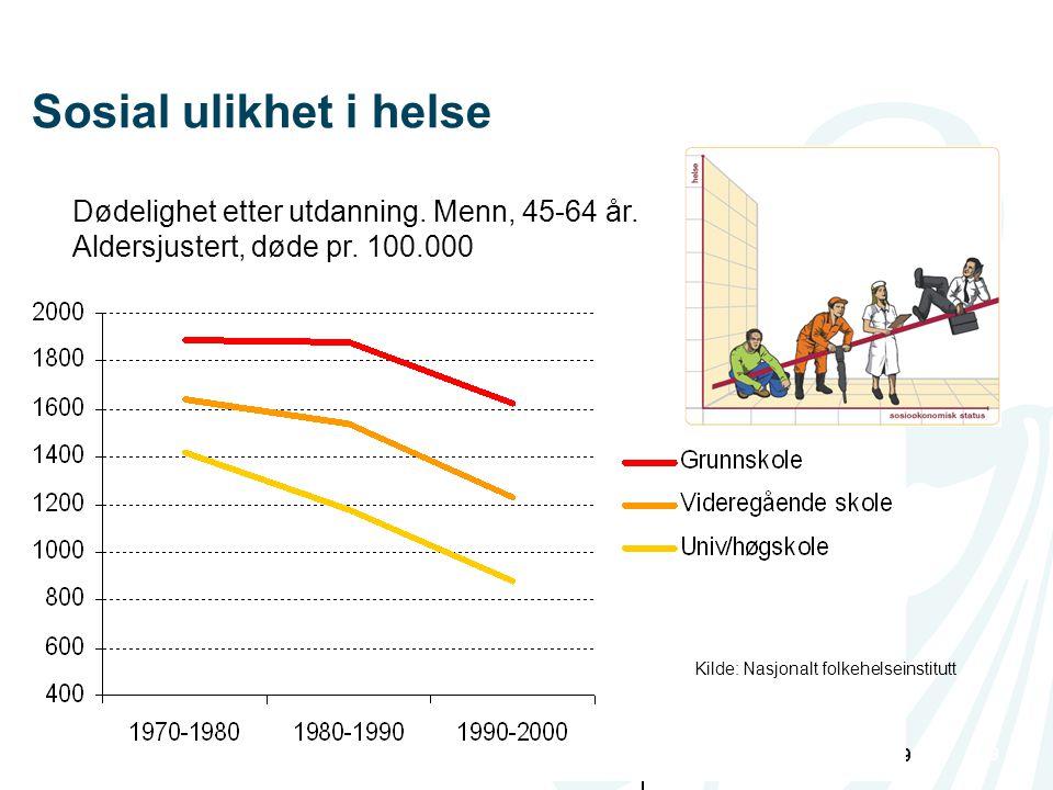 13.07.2014Geir RiiseSide 9 | 9 Dødelighet etter utdanning.