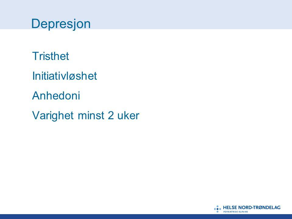 Depresjon - forts.