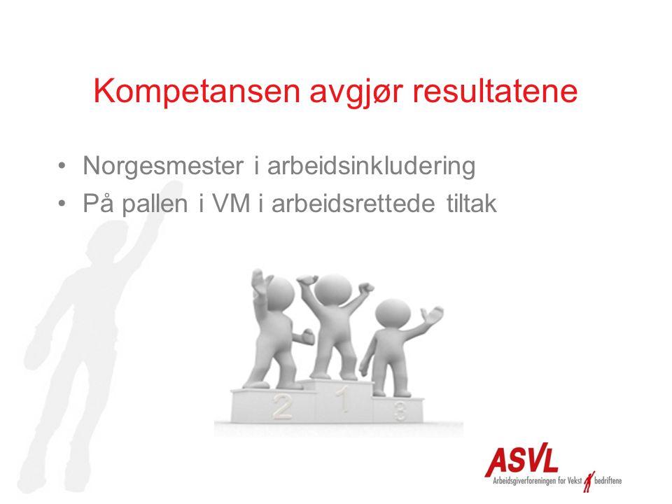 Kompetansen avgjør resultatene Norgesmester i arbeidsinkludering På pallen i VM i arbeidsrettede tiltak