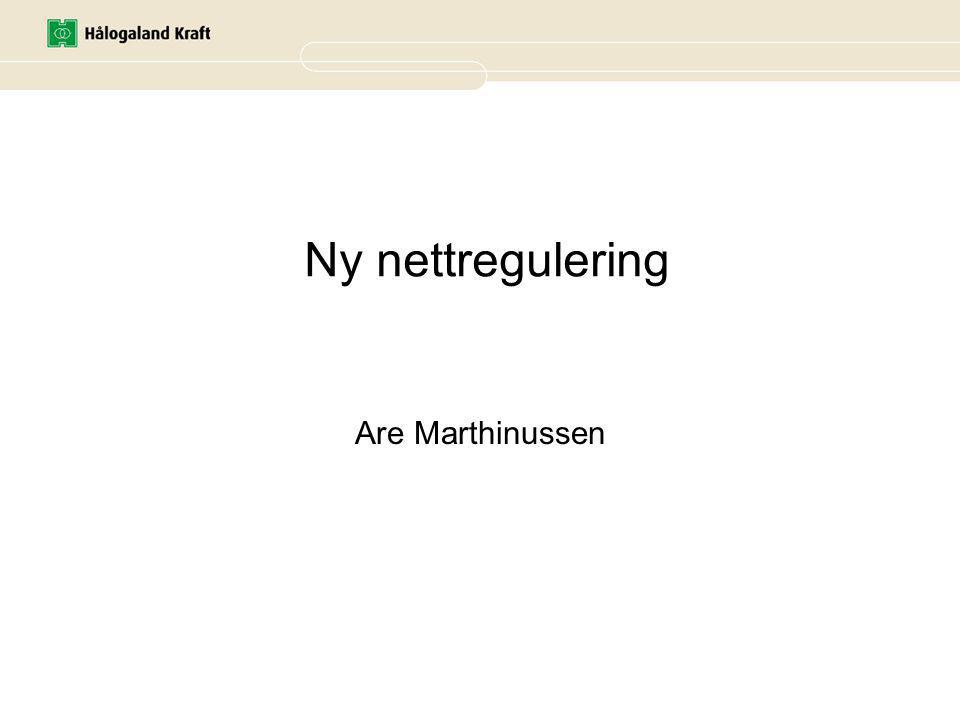 Ny nettregulering Are Marthinussen