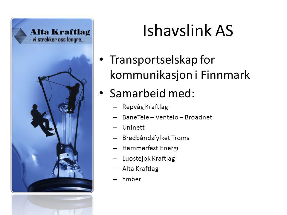 Transportselskap for kommunikasjon i Finnmark Samarbeid med: – Repvåg Kraftlag – BaneTele – Ventelo – Broadnet – Uninett – Bredbåndsfylket Troms – Hammerfest Energi – Luostejok Kraftlag – Alta Kraftlag – Ymber