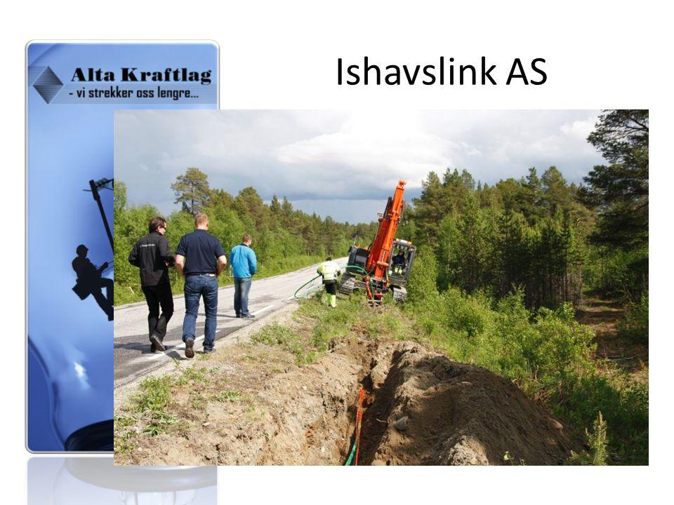 Ishavslink AS Bygget eget nett – Største byggeprosjekt, 350 km sommeren 2008.