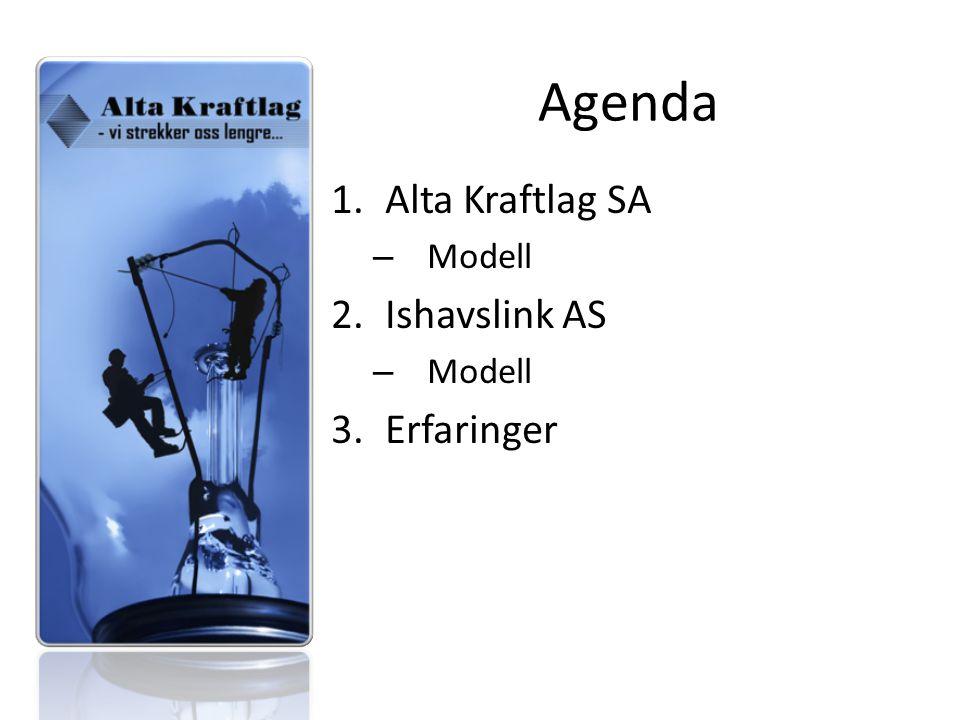 Agenda 1.Alta Kraftlag SA – Modell 2.Ishavslink AS – Modell 3.Erfaringer