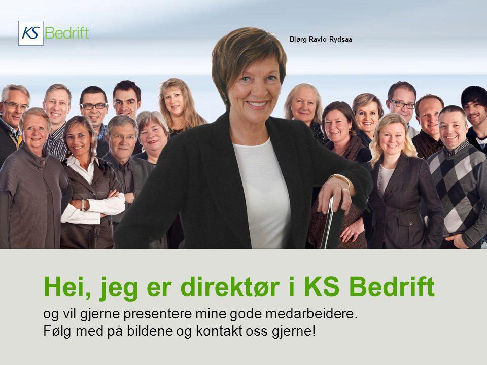 Hei, jeg er direktør i KS Bedrift og vil gjerne presentere mine gode medarbeidere. Følg med på bildene og kontakt oss gjerne! Bjørg Ravlo Rydsaa
