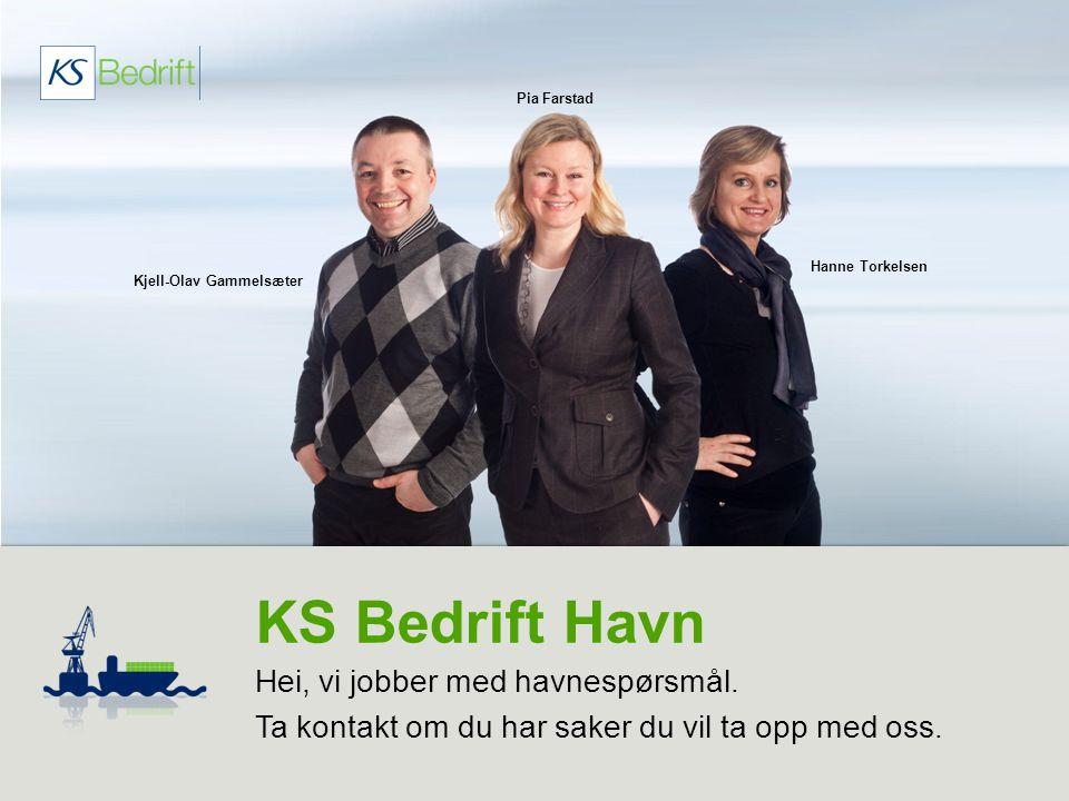 KS Bedrift Havn Hei, vi jobber med havnespørsmål. Ta kontakt om du har saker du vil ta opp med oss. Pia Farstad Hanne Torkelsen Kjell-Olav Gammelsæter