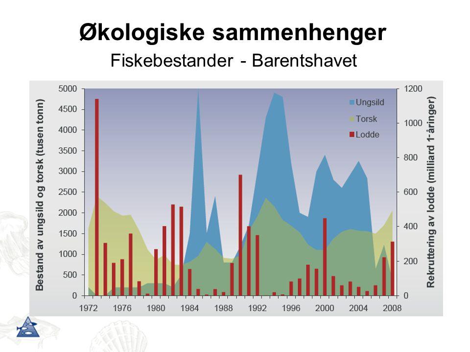 Økologiske sammenhenger Fiskebestander - Barentshavet
