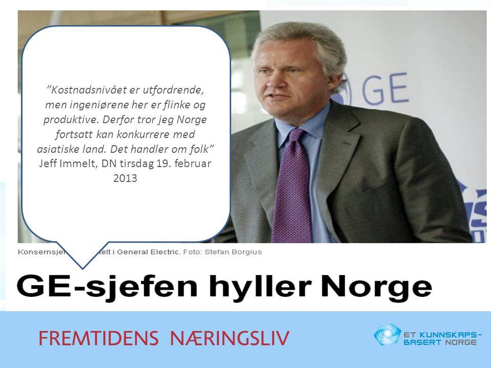 """""""Kostnadsnivået er utfordrende, men ingeniørene her er flinke og produktive. Derfor tror jeg Norge fortsatt kan konkurrere med asiatiske land. Det han"""
