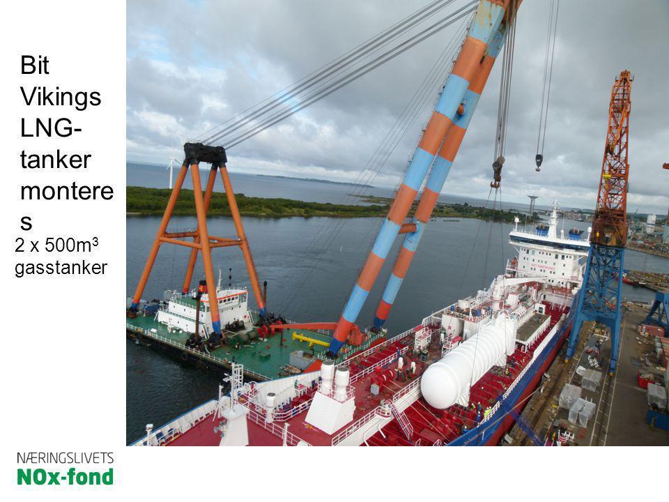 Bit Vikings LNG- tanker montere s 2 x 500m 3 gasstanker
