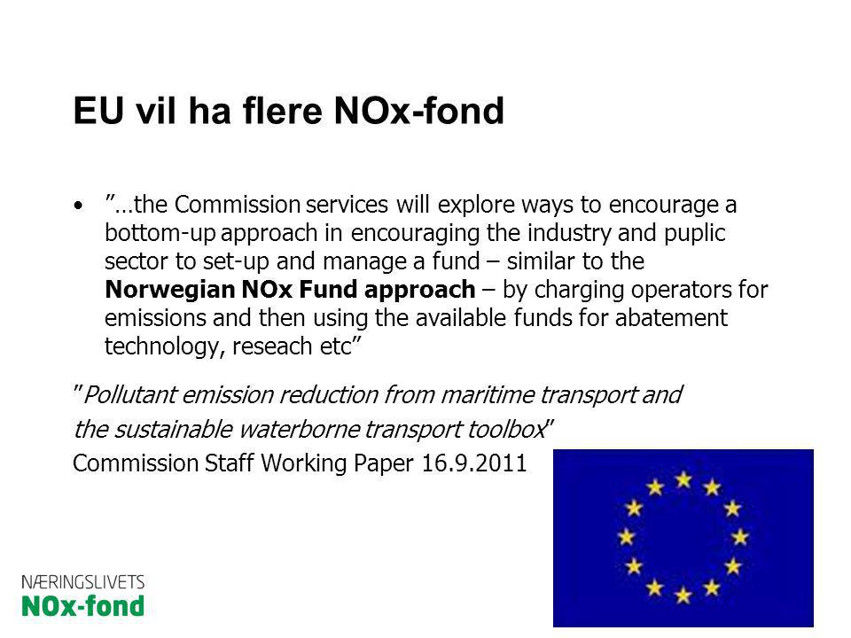 "EU vil ha flere NOx-fond ""…the Commission services will explore ways to encourage a bottom-up approach in encouraging the industry and puplic sector t"