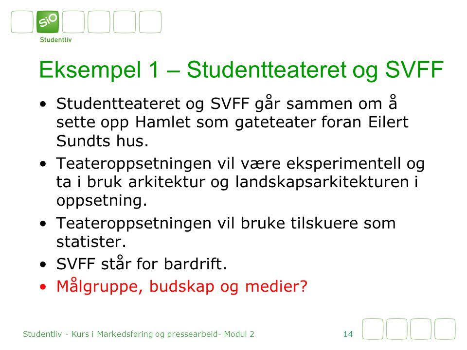 Studentteateret og SVFF går sammen om å sette opp Hamlet som gateteater foran Eilert Sundts hus. Teateroppsetningen vil være eksperimentell og ta i br