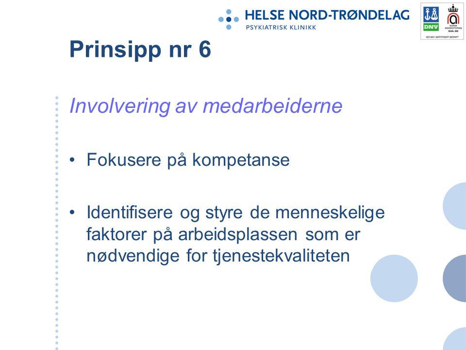Prinsipp nr 7 Gjensidig fordelaktig leverandørsamarbeid Definere og dokumentere krav som skal oppfylles av leverandører Evaluere deres utførelse for å ha styring med leveransene