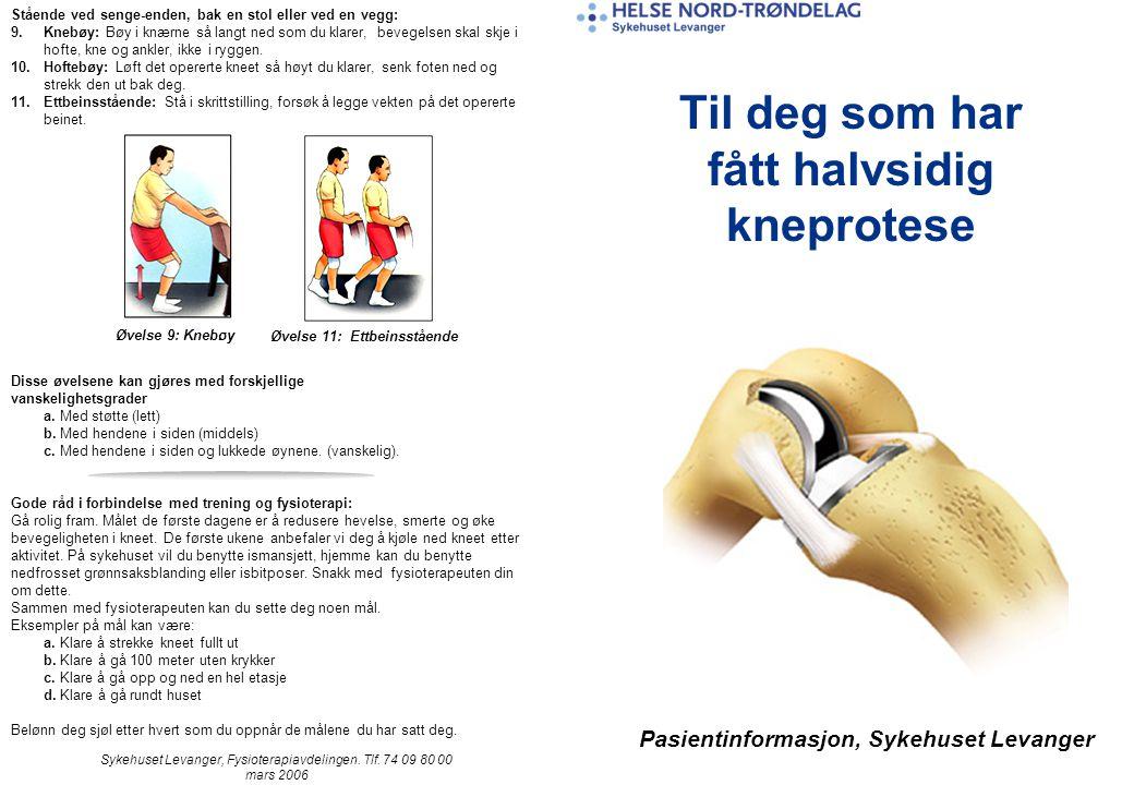 Pasientinformasjon, Sykehuset Levanger Sykehuset Levanger, Fysioterapiavdelingen.