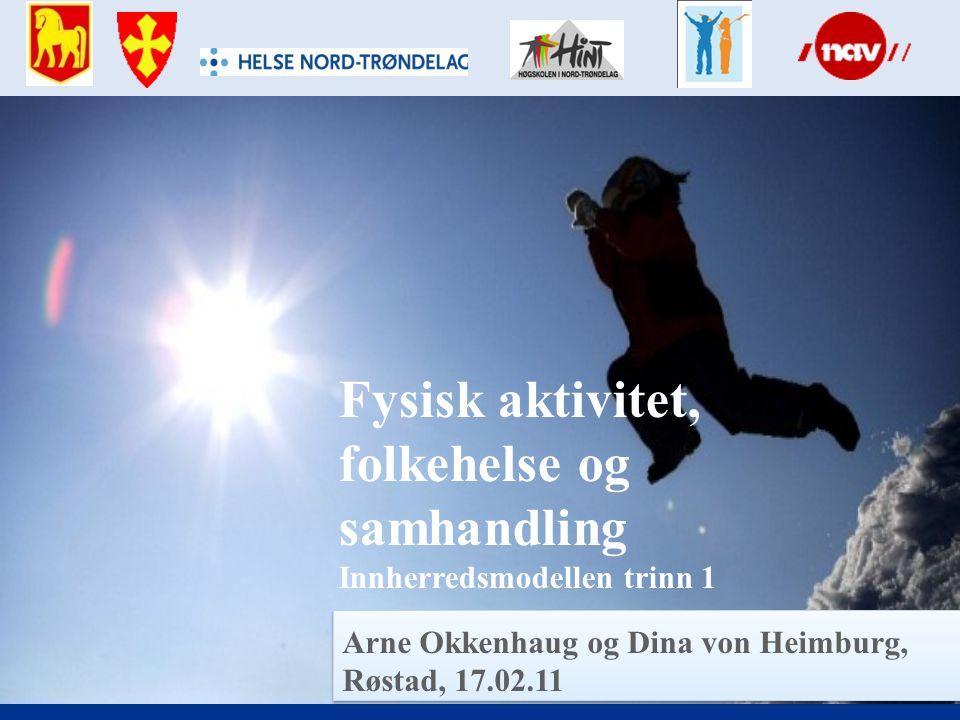 Arne Okkenhaug og Dina von Heimburg, Røstad, 17.02.11 Fysisk aktivitet, folkehelse og samhandling Innherredsmodellen trinn 1