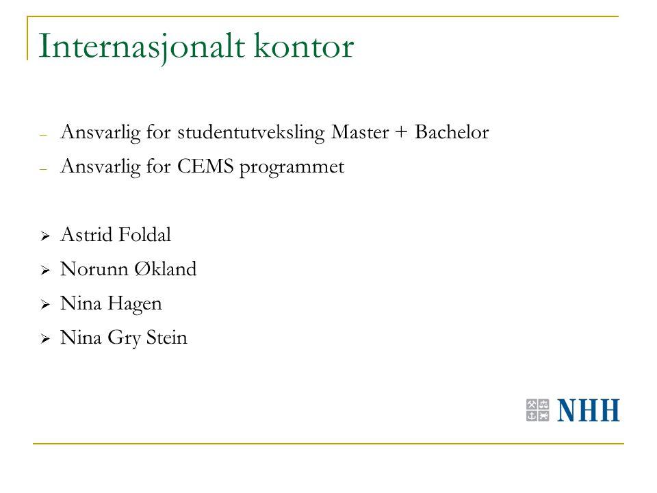 Stipend – Det finnes stipendordninger for studenter på utveksling, særlig i Europa, for eksempel: – Nordplus – Erasmus – Ruhrgas-stipend i Tyskland (får du Rurhgas kan du ikke motta Erasmus-stipend) – Det er viktig å merke seg at Erasmusstipendet kan du kun få en gang