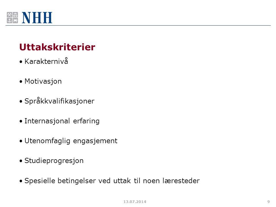 Svar på søknad Svar på e-post senest mandag 14.