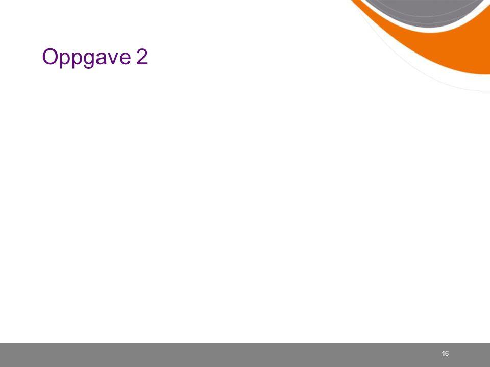 Oppgave 2 16
