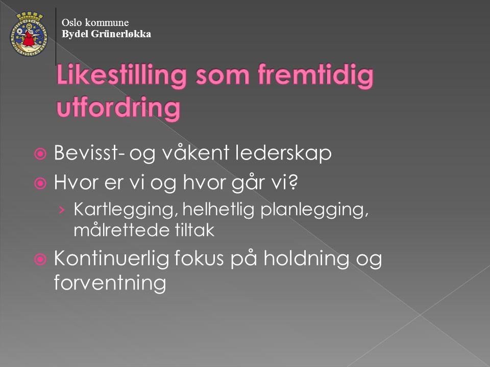 Oslo kommune Bydel Grünerløkka  Bevisst- og våkent lederskap  Hvor er vi og hvor går vi.