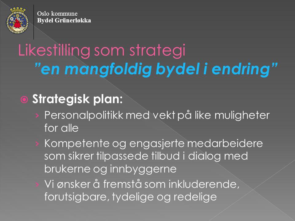 Oslo kommune Bydel Grünerløkka Ulike løsninger er veien til helhet og likeverd