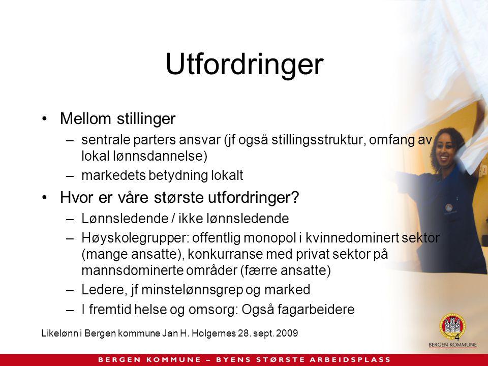 Likelønn i Bergen kommune Jan H. Holgernes 28. sept.