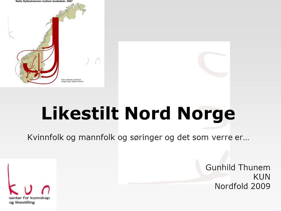Gunhild Thunem KUN Nordfold 2009 Likestilt Nord Norge Kvinnfolk og mannfolk og søringer og det som verre er…