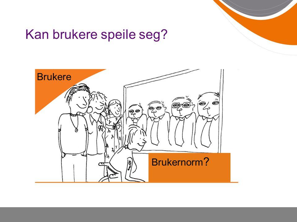 Kan brukere speile seg W Brukere Brukernorm